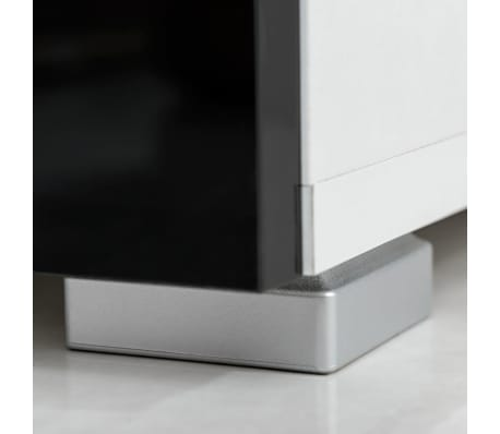 vidaxl f nfteilige wohnwand tv schrank mit led beleuchtung schwarz g nstig kaufen. Black Bedroom Furniture Sets. Home Design Ideas