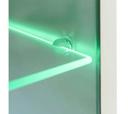 vidaXL Sieninė televizoriaus spintelė su LED apšvietimu, 5d., juoda[8/9]