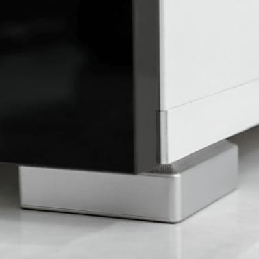 vidaXL Sieninė televizoriaus spintelė su LED apšvietimu, 5d., juoda[7/9]