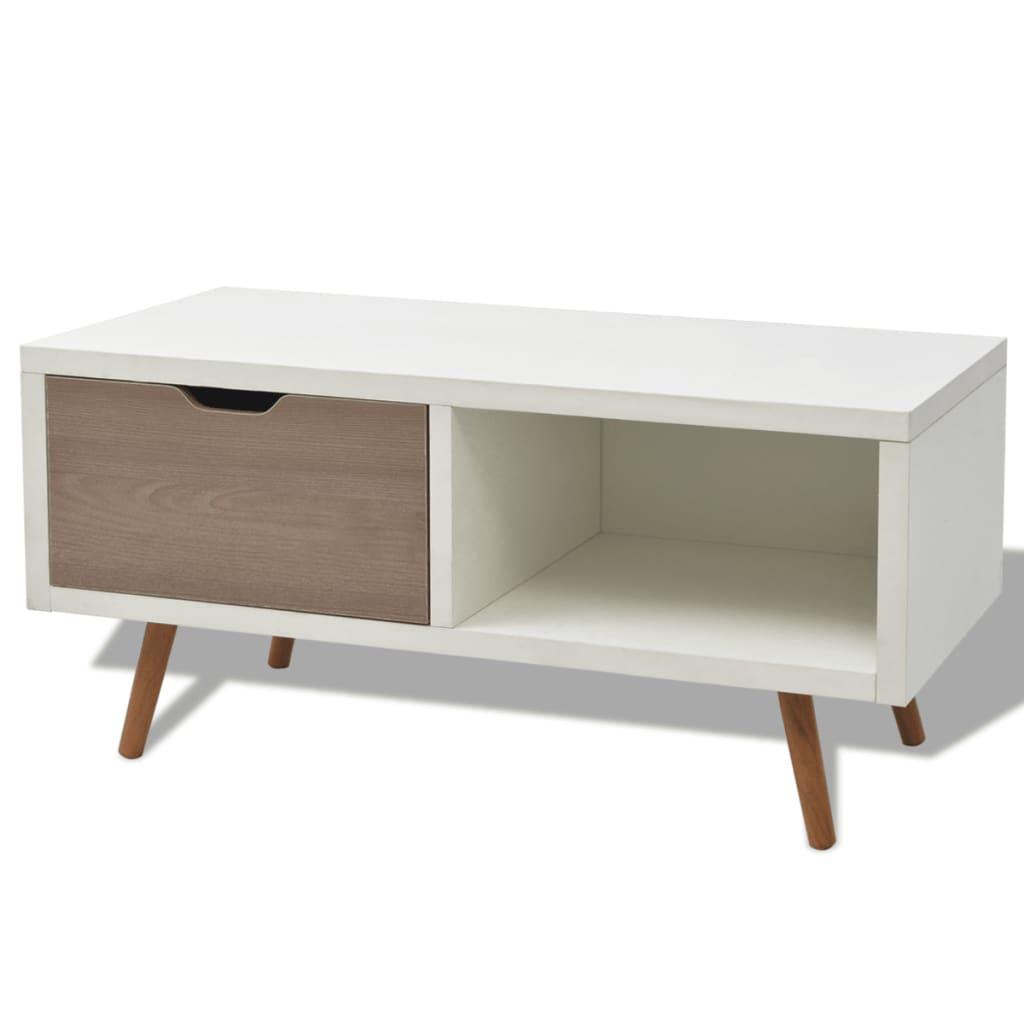 Afbeelding van vidaXL Tv-meubel wit 90 x 35 x 43 cm