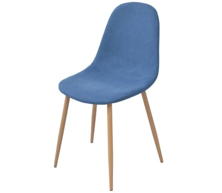 vidaXL Dining Chairs 2 pcs Fabric Blue[2/5]