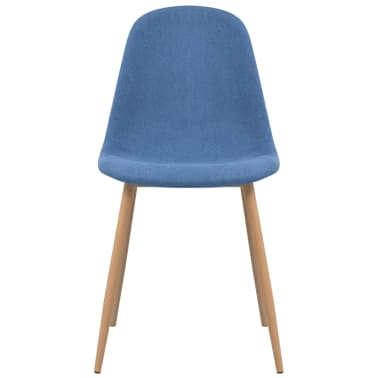 vidaXL Dining Chairs 2 pcs Fabric Blue[3/5]