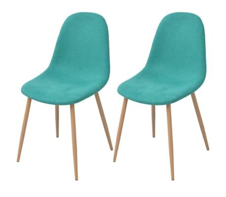 vidaXL spisebordsstole i stof 2 stk. grøn