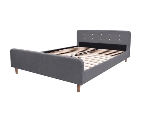 vidaXL Lovos rėmas, šviesiai pilkas, 140x200 cm, audinys[2/7]