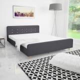 vidaXL gultas rāmis, 160x200 cm, tumši pelēks audums