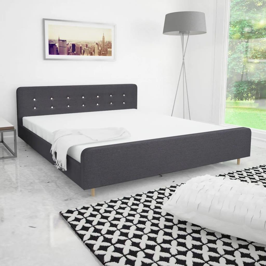 vidaXL Πλαίσιο Κρεβατιού Σκούρο Γκρι 180 x 200 εκ. Υφασμάτινο