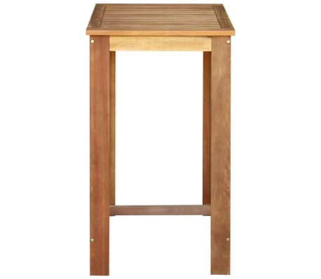 "vidaXL Bar Table 23.6""x23.6""x41.3"" Solid Acacia Wood[2/4]"