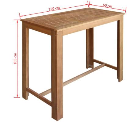 """vidaXL Bar Table 47.2""""x23.6""""x41.3"""" Solid Acacia Wood[4/4]"""