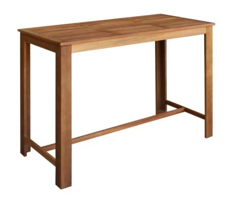 """vidaXL Bar Table 59""""x27.6""""x41.3"""" Solid Acacia Wood[1/5]"""