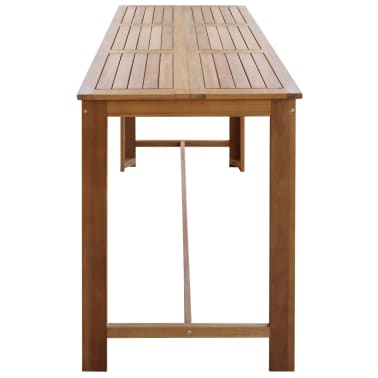 """vidaXL Bar Table 59""""x27.6""""x41.3"""" Solid Acacia Wood[3/5]"""