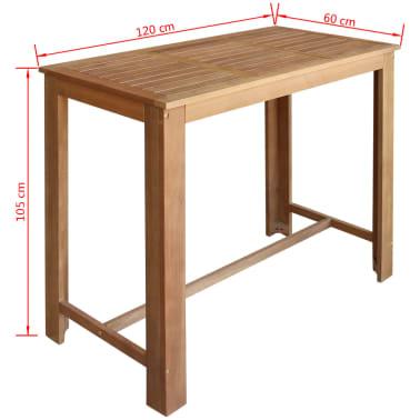 vidaxl f nfteiliges bartisch und hocker set massives akazienholz g nstig kaufen. Black Bedroom Furniture Sets. Home Design Ideas