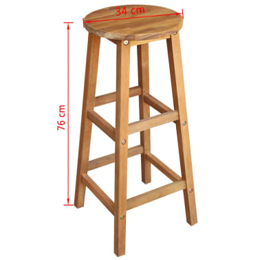 vidaXL Bar Table and Stool Set 7 Pieces Solid Acacia Wood[6/6]