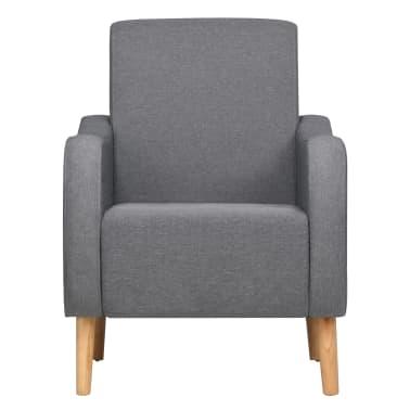 vidaXL Fotoliu, gri deschis, material textil[3/8]