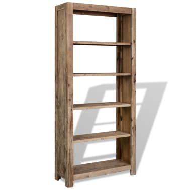 vidaxl boekenkast met 5 schappen 80x30x180 cm massief acaciahout15