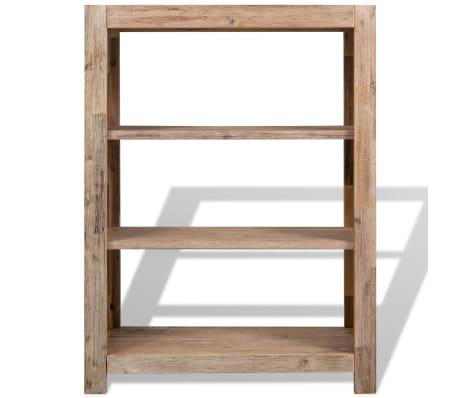 vidaxl biblioth que 3 tag res bois massif d 39 acacia 80 x 30 x 110 cm. Black Bedroom Furniture Sets. Home Design Ideas