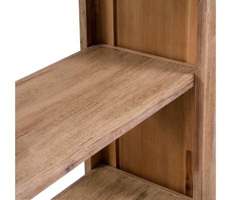 acheter vidaxl biblioth que 3 tag res bois massif d 39 acacia 80 x 30 x 110 cm pas cher. Black Bedroom Furniture Sets. Home Design Ideas