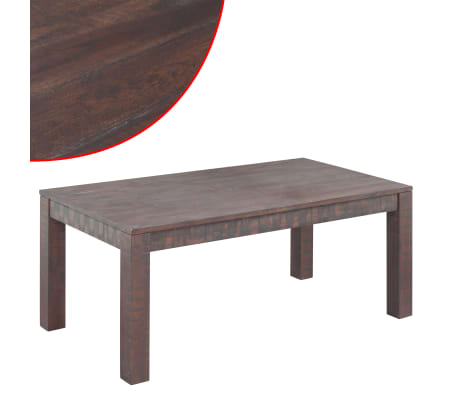vidaXL Kavos staliukas, masyvi akacijos mediena, 105x55x45 cm[1/6]