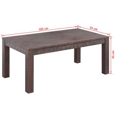 vidaXL Kavos staliukas, masyvi akacijos mediena, 105x55x45 cm[6/6]