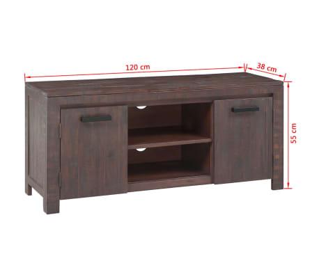 vidaXL Mueble para TV madera de acacia estilo ahumado 120x38x55 cm ...