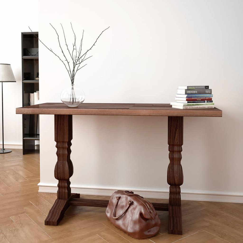 vidaXL Masă consolă tip piedestal, lemn solid de salcâm 100x40x75 cm poza vidaxl.ro