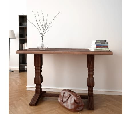 VidaXL Pedestal Console Table Solid Acacia Wood 100x40x75 Cm[1/7]