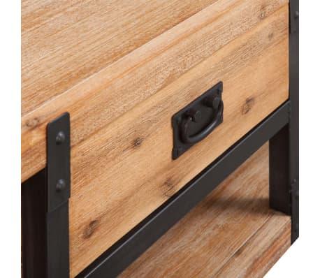 vidaXL TV-möbel massivt akaciaträ 140x40x45 cm[4/5]