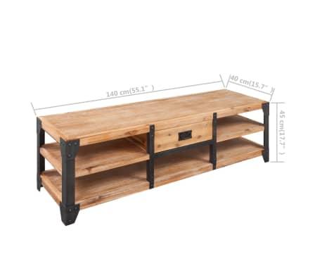 vidaXL TV-möbel massivt akaciaträ 140x40x45 cm[5/5]