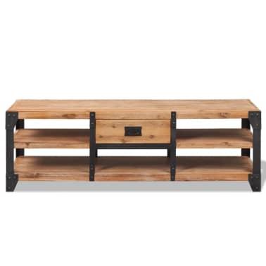 vidaXL TV staliukas, tvirta akacijos mediena, 140x40x45 cm[2/5]