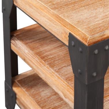 vidaXL TV staliukas, tvirta akacijos mediena, 140x40x45 cm[3/5]