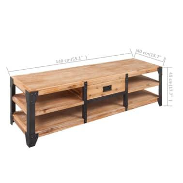 vidaXL TV staliukas, tvirta akacijos mediena, 140x40x45 cm[5/5]