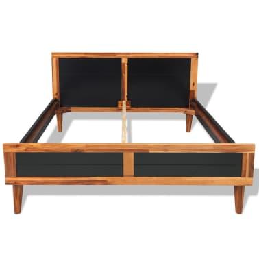 "vidaXL Bed Frame Black Solid Acacia Wood 78.7""x55.1""[2/6]"