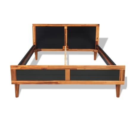 vidaXL Cadru de pat, negru, 180 x 200 cm, lemn masiv de acacia[2/6]