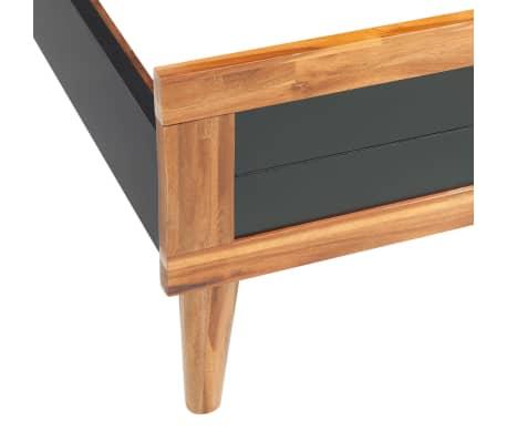 vidaXL Cadru de pat, negru, 180 x 200 cm, lemn masiv de acacia[4/6]
