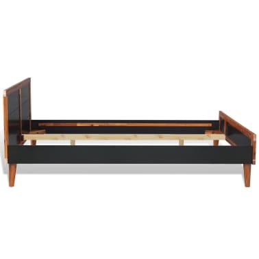 vidaXL Cadru de pat, negru, 180 x 200 cm, lemn masiv de acacia[3/6]