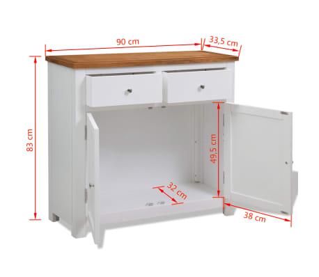 """vidaXL Sideboard 35.4""""x13.2""""x32.7"""" Oak[8/8]"""