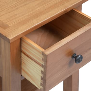 vidaXL Nightstand 36x30x47 cm Solid Oak Wood[5/6]