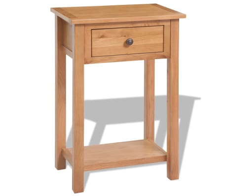 vidaXL Console Table 50x32x75 cm Solid Oak Wood