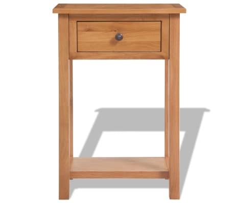 "vidaXL Console Table Solid Oak Wood 19.7""x12.6""x29.5"" Brown[2/6]"