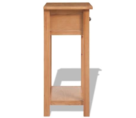 "vidaXL Console Table Solid Oak Wood 19.7""x12.6""x29.5"" Brown[3/6]"