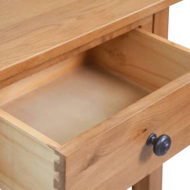 "vidaXL Console Table Solid Oak Wood 19.7""x12.6""x29.5"" Brown[5/6]"