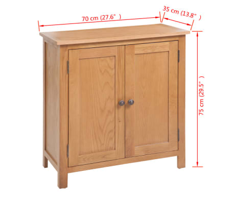 vidaXL Spintelė, 70x35x75cm, ąžuolo medienos masyvas[6/6]