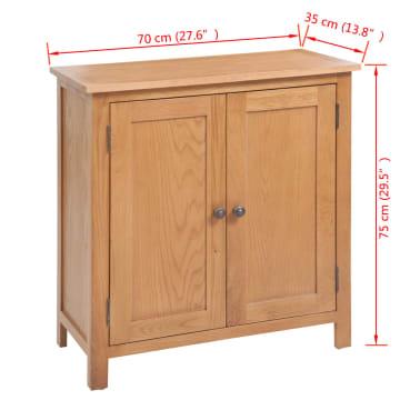 vidaXL Komoda 70 x 35 x 75 cm masivní dubové dřevo[6/6]