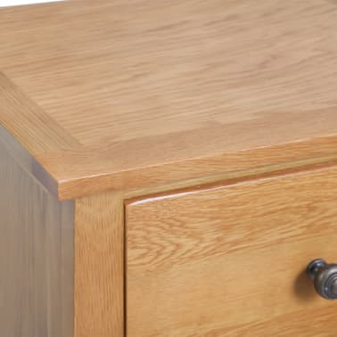 vidaXL Armoire avec tiroirs 45 x 32 x 115 cm Bois de chêne massif[6/7]