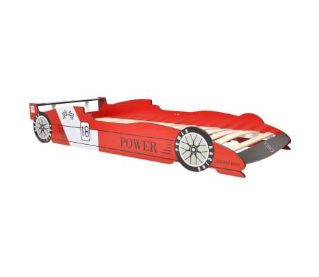 vidaXL Vaikiška LED lova lenktyninė mašina, 90x200 cm, raudona[5/9]