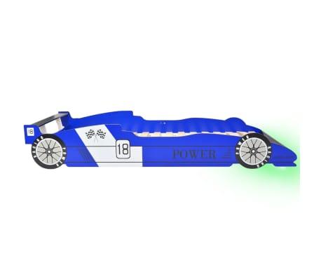 vidaXL Dječji Krevet LED Trkaći Auto 90x200 cm Plavi[5/9]