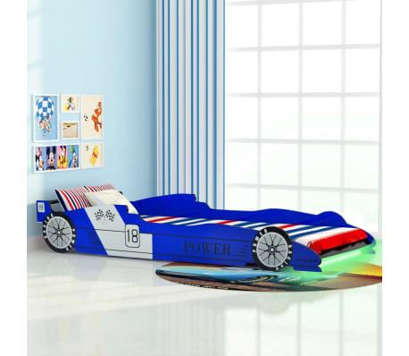vidaXL Kinder raceauto bed met LED-verlichting 90x200 cm blauw ...