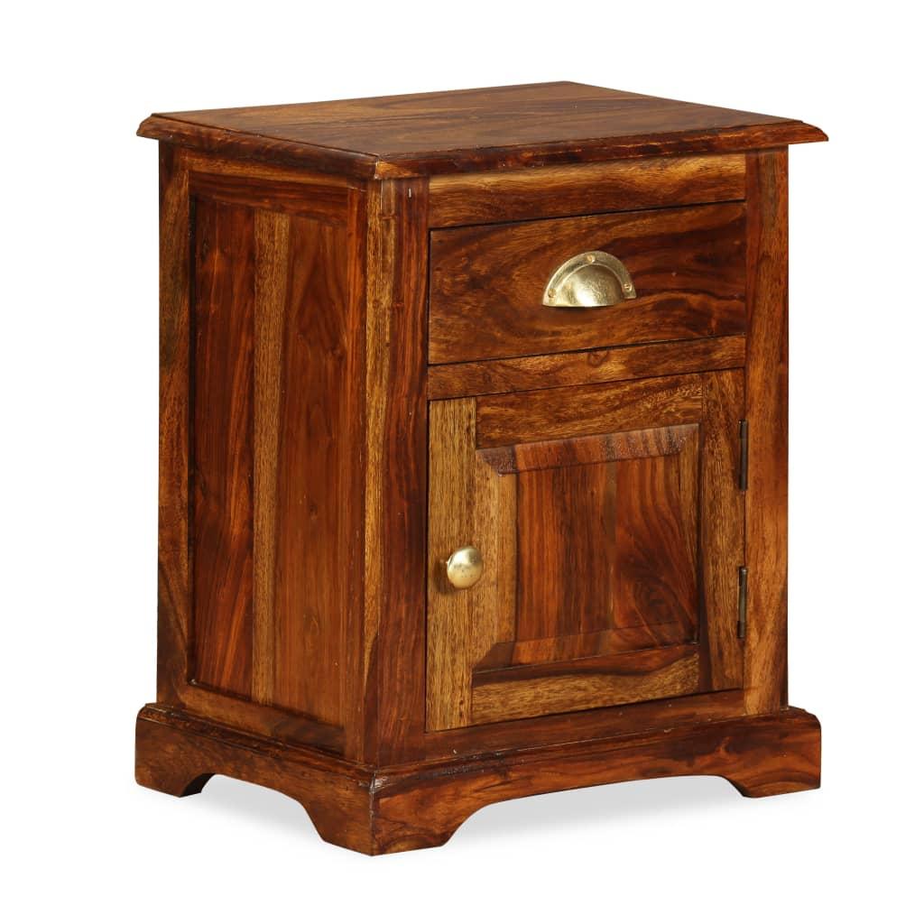 vidaXL Noční stolek z masivního sheeshamového dřeva 40x30x50 cm