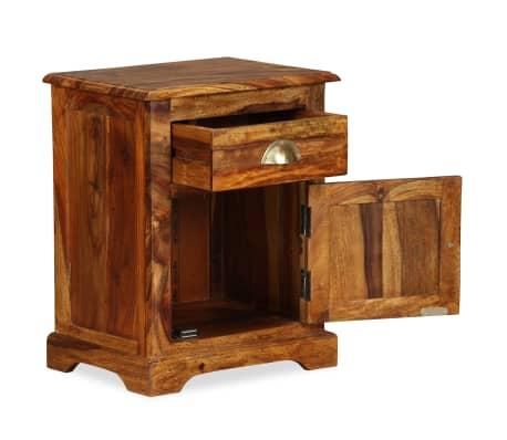 vidaXL Table de chevet Bois massif de Sesham 40 x 30 x 50 cm[3/11]