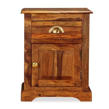 vidaXL Table de chevet Bois massif de Sesham 40 x 30 x 50 cm[2/11]