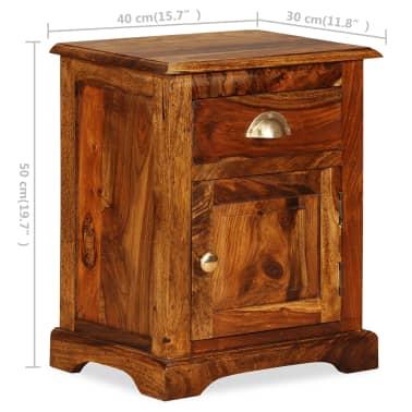 vidaXL Table de chevet Bois massif de Sesham 40 x 30 x 50 cm[11/11]